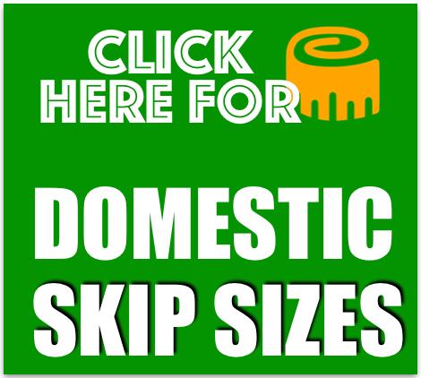 domestic skip sizes